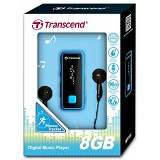 TRANSCEND MP3 Player 8GB MP350 [TS8GMP350B] - Blue - Mp3 Players
